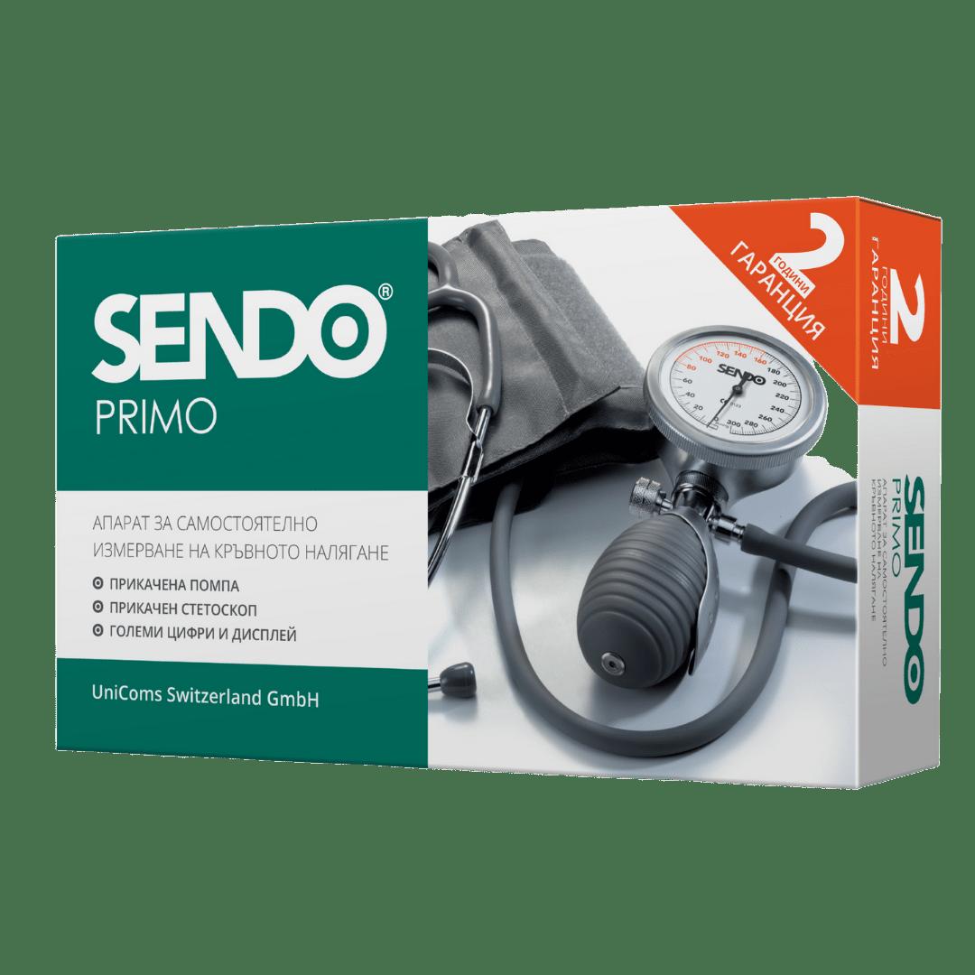 С прикачена помпа и прикачен стетоскоп, практичен и удобен за използване с една ръка.